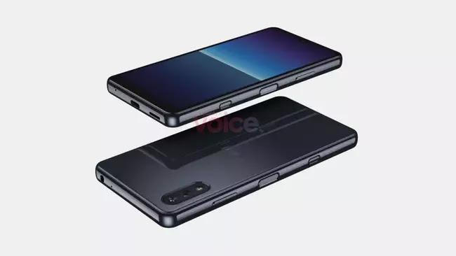 Sony Xperia Compact - yandan görünüm, arka ve ön taraf