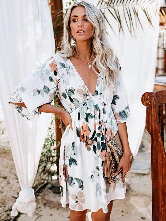 looks de verão vestido florido