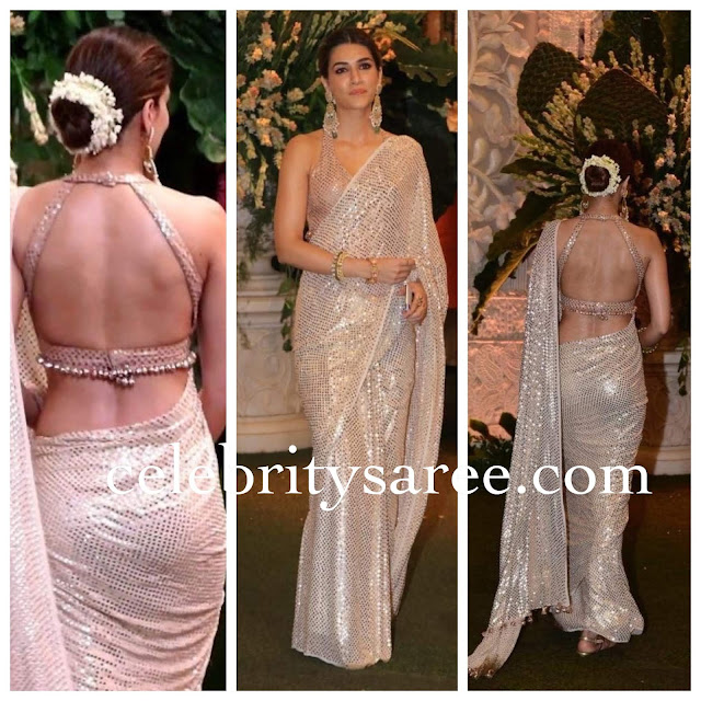 Kriti Sanon in Backless Blouse