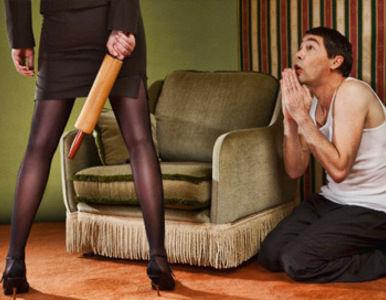 El marido golpea a su esposa bbw