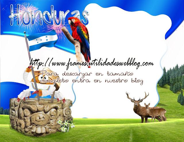marco para fotos con simbolos patrios y elementos tipicos de Honduras