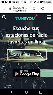 Escuche sus  estaciones de radio favoritas en línea