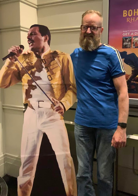 Madmumof7'S husband with Freddie Mercury cut out