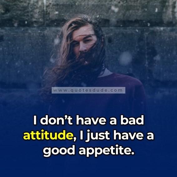 attractive attitude caption for boys in english