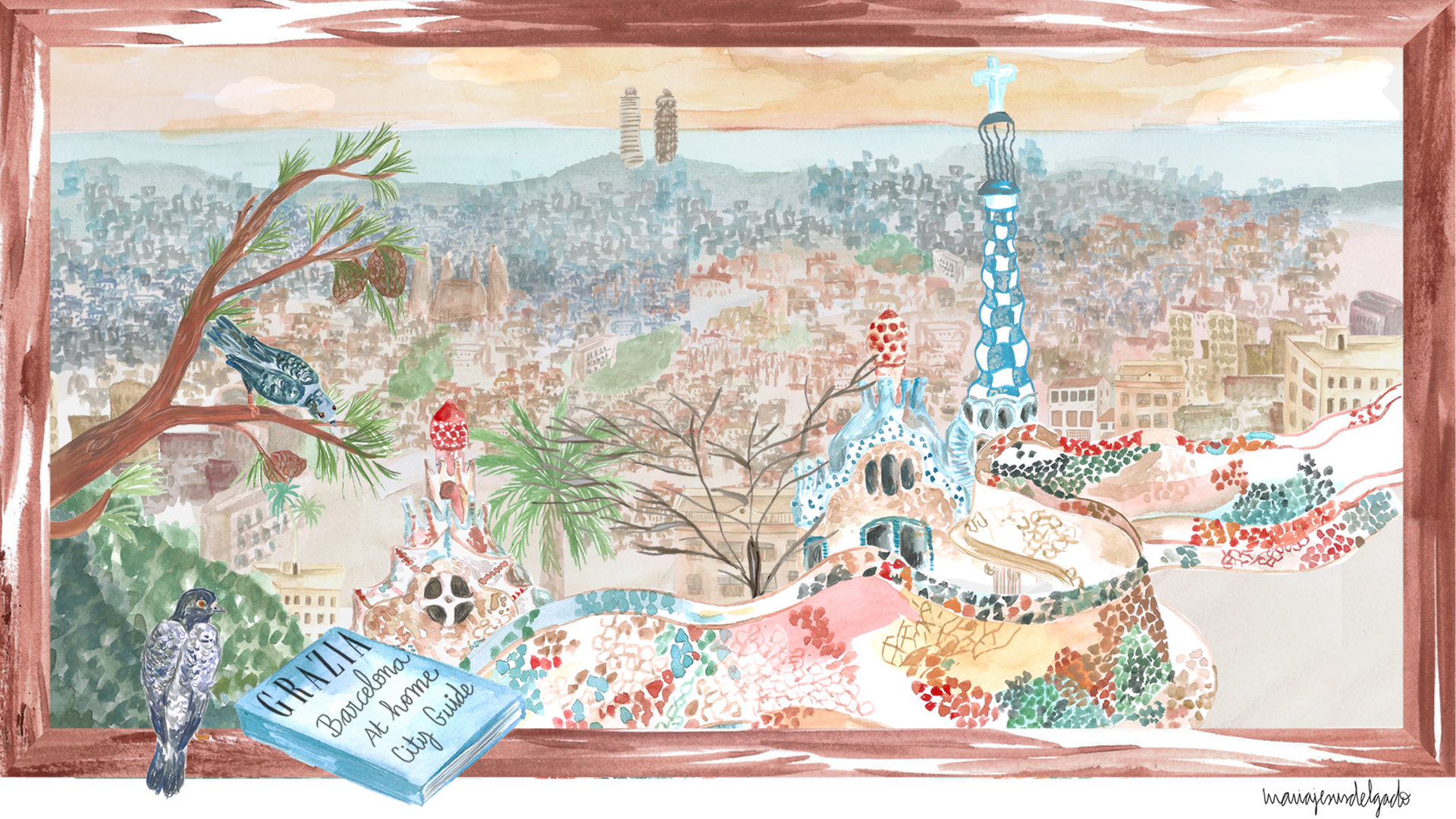 barcelona_illustration_gaudi_guide