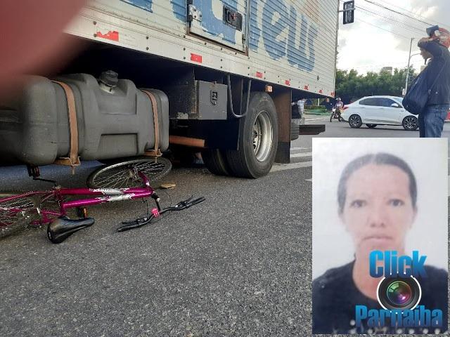 Trânsito: Mulher morre atropelada por um caminhão da Mateus no Balão do Mirante