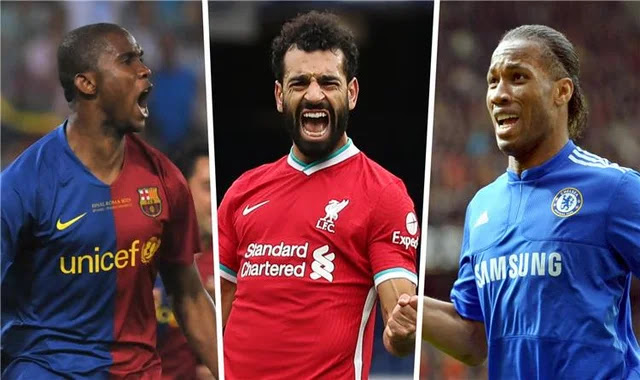 Mohamed Salah equals Eto'o's record and is close to Drogba in the Champions League