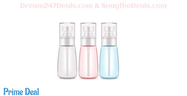 40%OFF  Plastic Spray Bottle,3 Pack 60ml/2oz Spray Bottles, Fine Mist Spray Bottle for Travel and Home