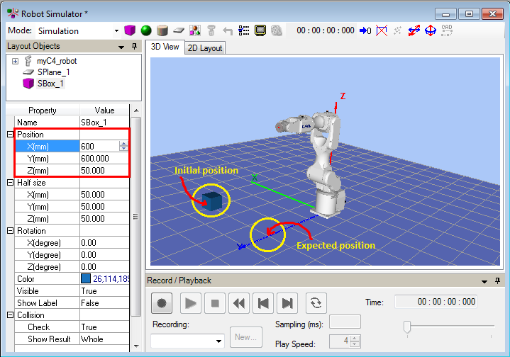 Create EPSON Robot Environment/Layout for Simulation