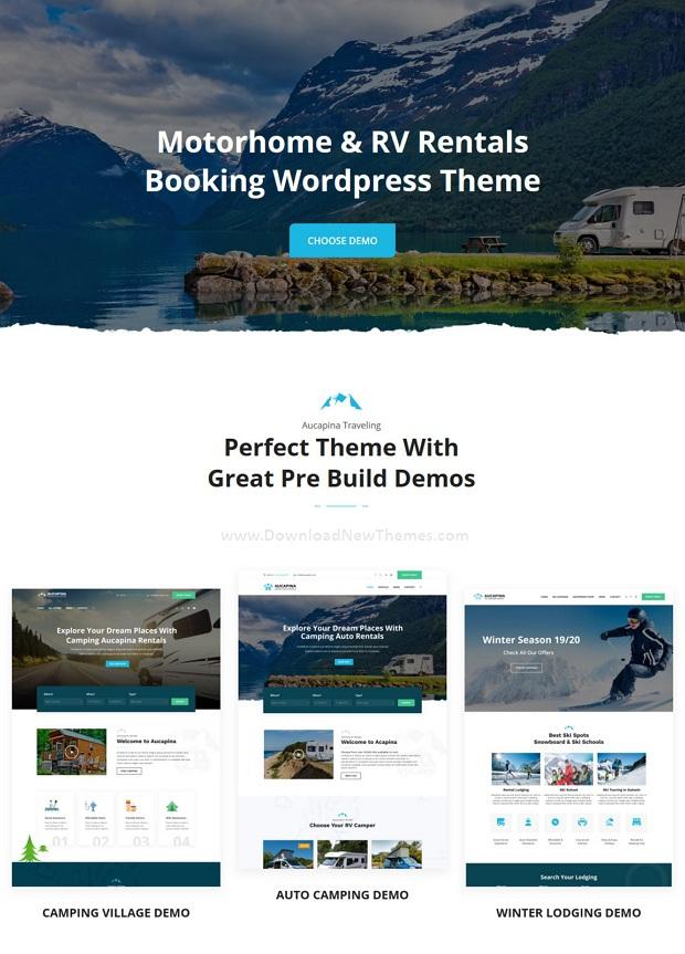 Aucapina - Motorhome & RV Rentals WordPress Theme