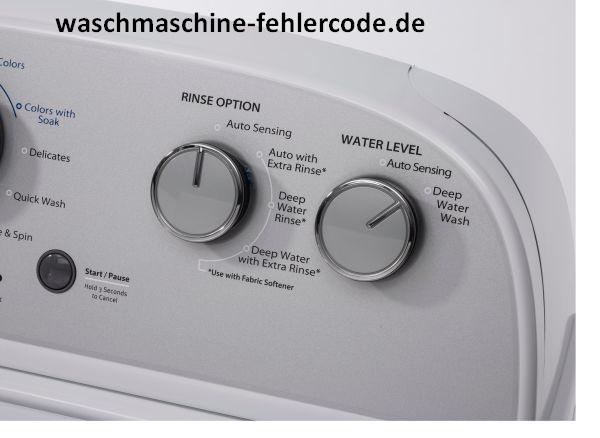 Whirlpool Waschmaschine Alle Fehlermeldung Liste