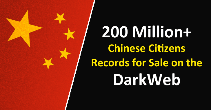 Over 200 Million+ Chinese Citizens Records for Sale on the Darkweb