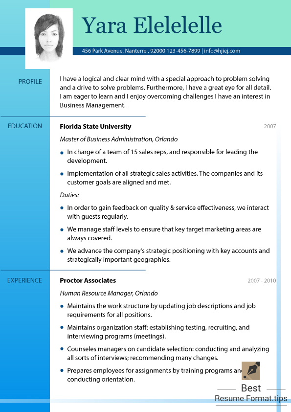 resume word format example good resume examples for college