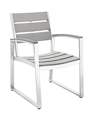 ALL-WEATHER GREY PATIO DINING CHAIRS