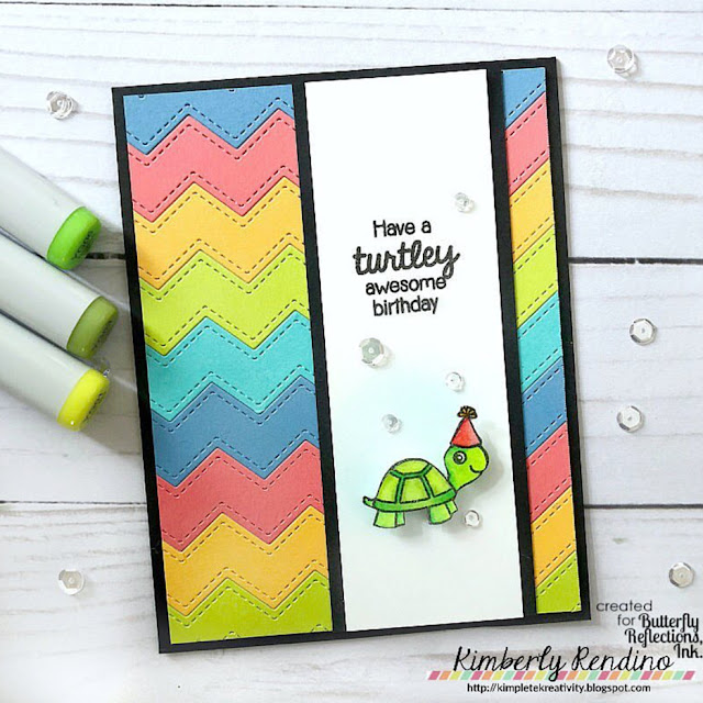 Sunny Studio Stamps: Turtley Awesome Customer Card by Kimberly Rendino
