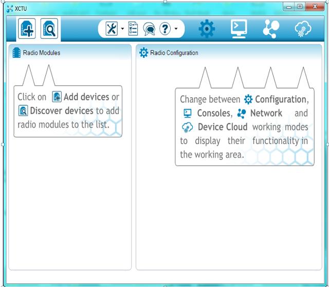 discovering radio module devices, XCTU, XBEE, Zigbee