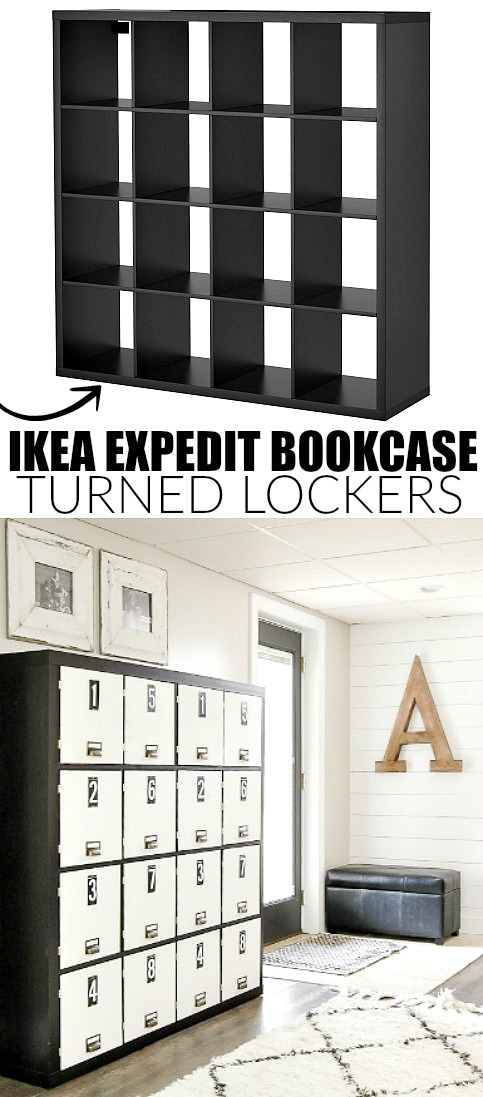 IKEA Expedit bookcase tuned lockers, IKEA hack, IKEA storage, IKEA