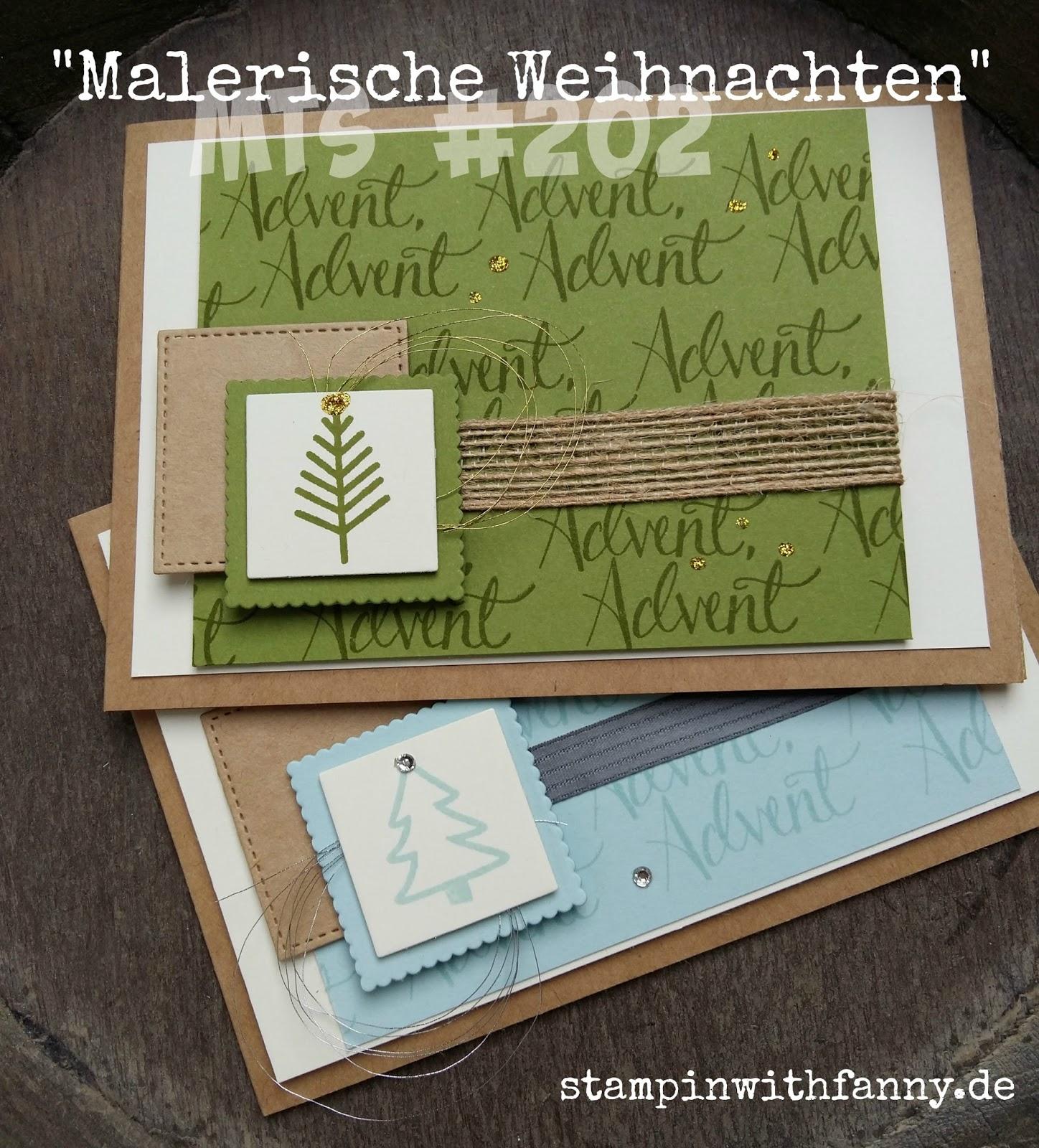 stampin with fanny: MtS #202: Malerische Weihnachten