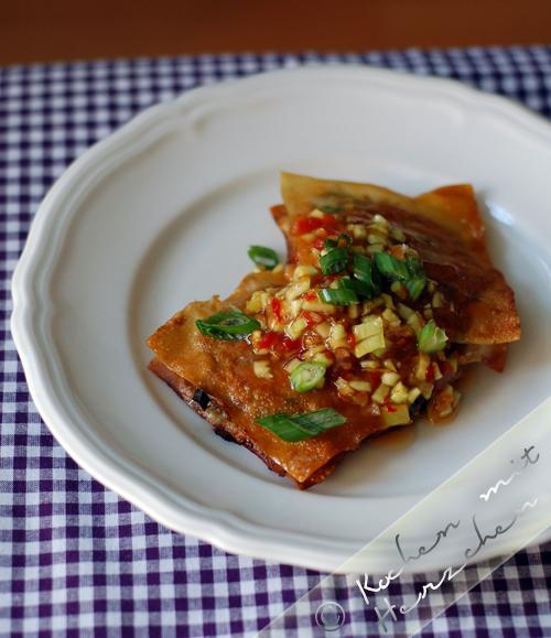 Gebackenes Rindertatar mit süßer Chilisauce