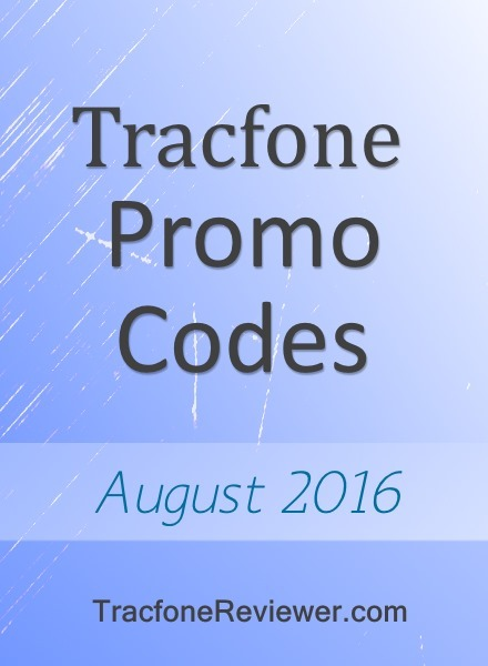 Tracfone Promo Codes for August 2016
