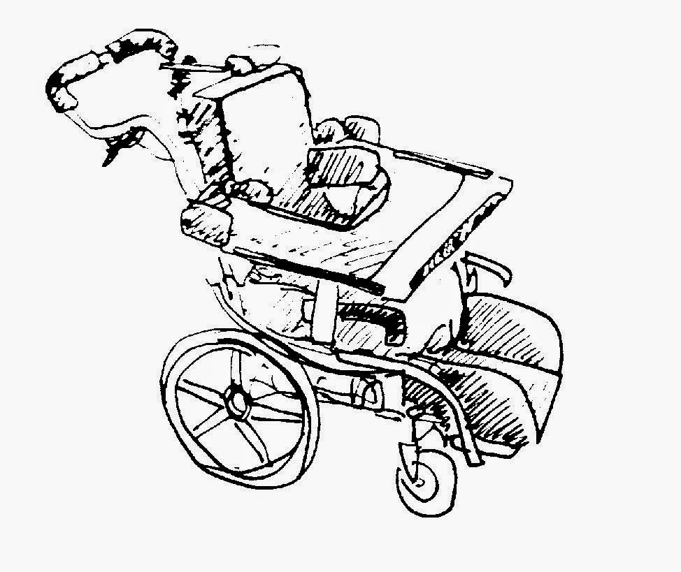 drawing of Savannah's wheelchair by David Borden