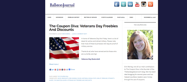 The Coupon Diva: Veterans Day Freebies And Discounts