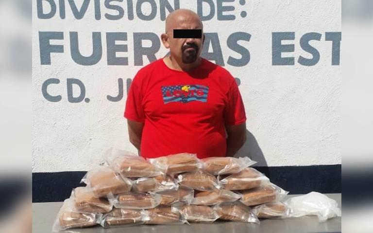Cae integrante del Cártel de Sinaloa cargado con paquetes de de mariguana y cristal en Ciudad Juárez;