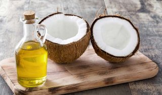 Coconut oil is used for cosmetic purposes to improve the skin health and appearance. It is a good moisturizer for rough and dry skin. Coconut oil has anti-aging properties and may protect the skin from ultra-violet (UV) rays, which increases the risk of skin cancer and cause wrinkles and fades. Applying virgin coconut oil on the hands helps to treat dry and parched hands after long dish wash. Applying coconut oil after shower helps to keep the skin young and beautiful, by replenishing natural oil. It will open pores and allow oil to absorb through the skin more efficiently.