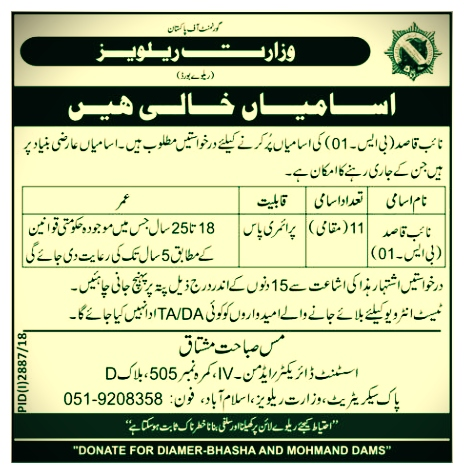 Pakistan Railways Jobs 2019 Latest New Advertisement