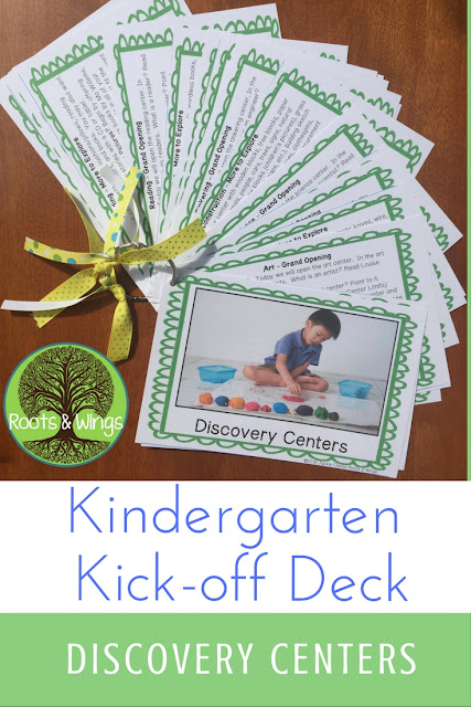 a plan for opening and introducing kindergarten choice time play centers