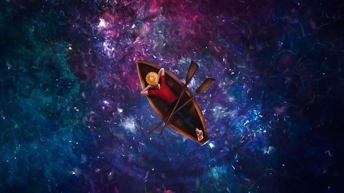 Pescador, Barco, Reflexão, Estrelas, Espaço