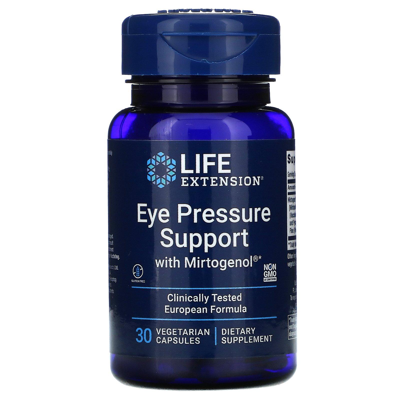 Life Extension, Поддержка нормального глазного давления с Mirtogenol, 30 растительных капсул