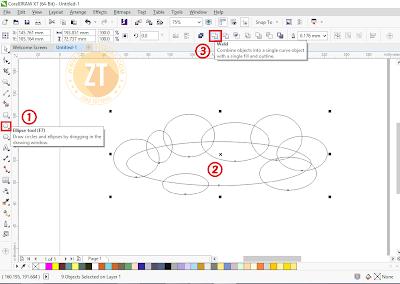 Membuat Bentuk Awan Dengan CorelDraw X7