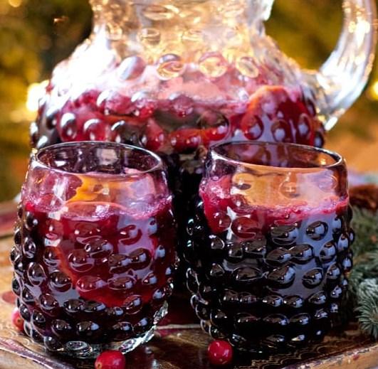 Christmas Sangria #drinks #fruitjuices