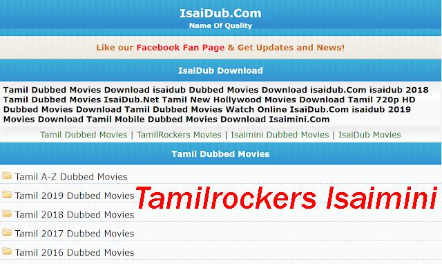 Tamilrockers Isaimini- 2020 Tamil HD Movies Download