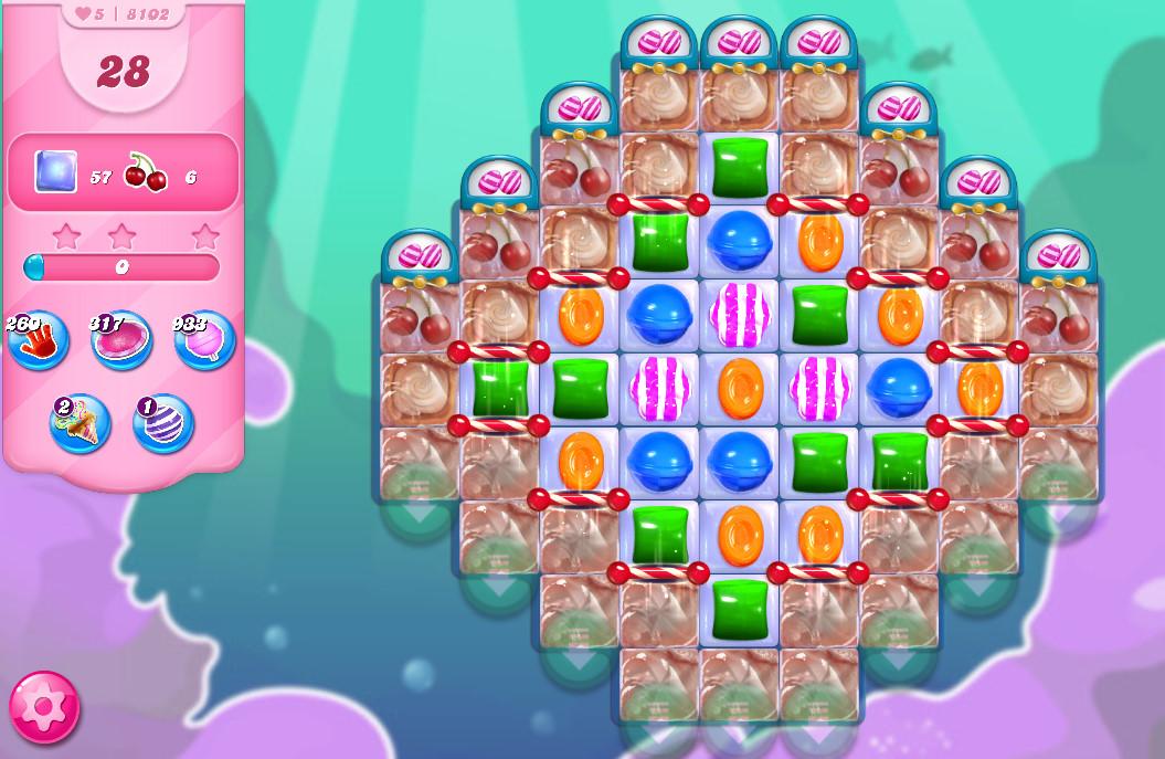 Candy Crush Saga level 8102