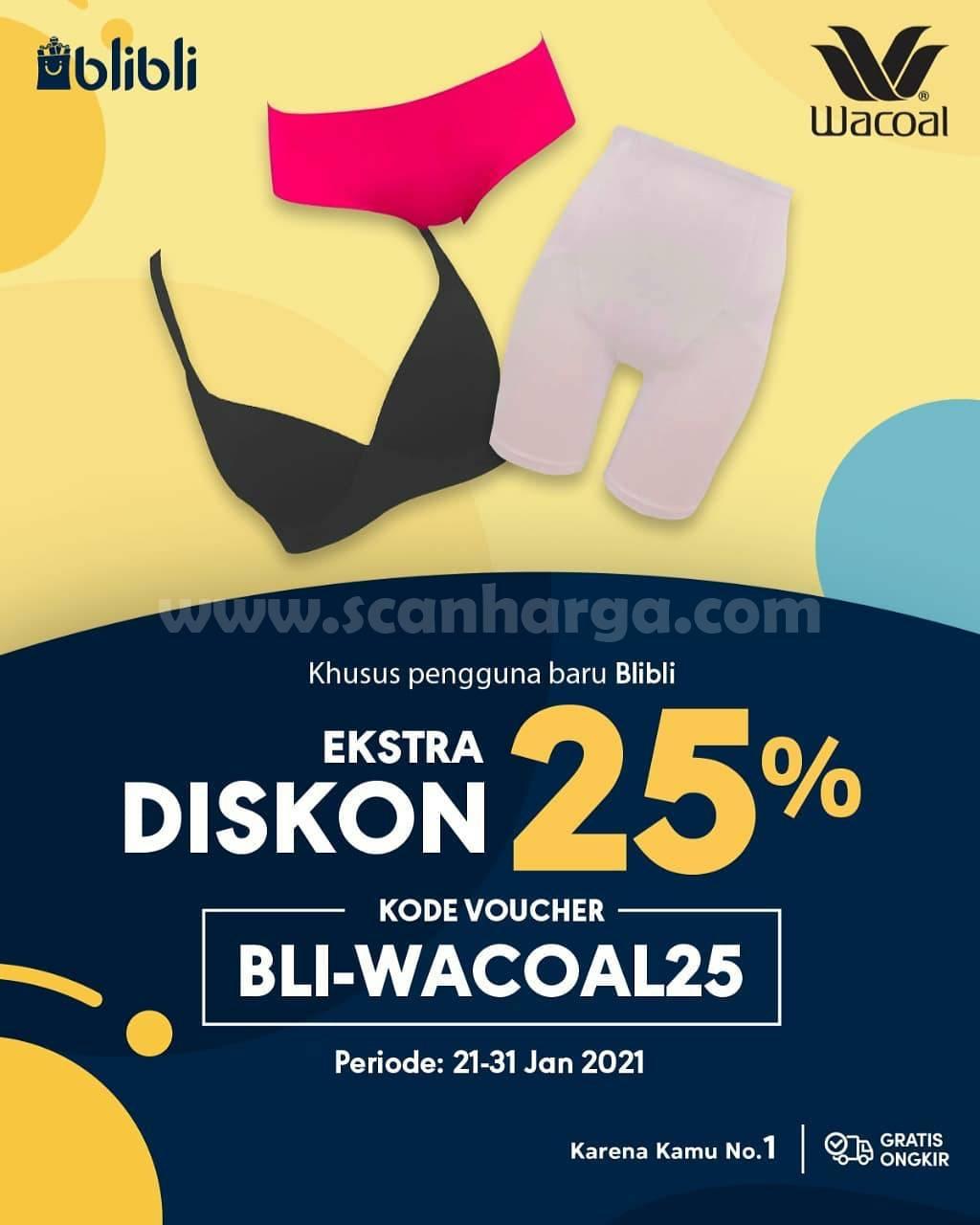 WACOAL Promo Extra Diskon 20% khusus pengguna baru Blibli