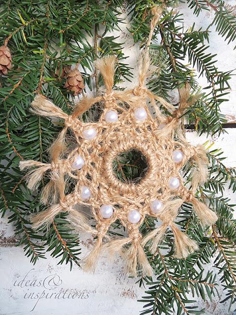 Weihnachtsbaumanhänger im Boho Look