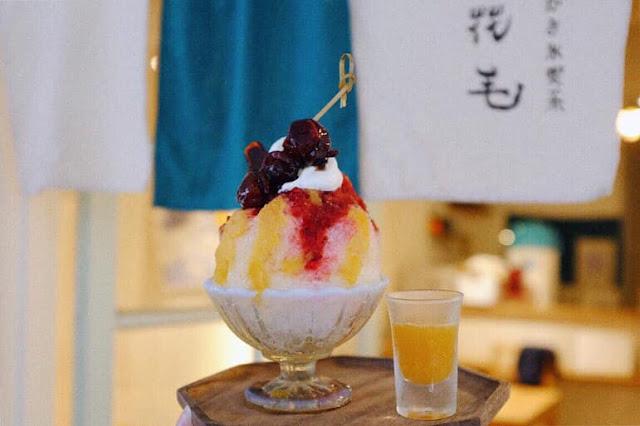 wan鵝牌極致鵝絨日式刨冰 日式與台式刨冰的美麗與視角 花毛 かき氷喫茶 果實男子 「花毛かき氷喫茶」的糖葫蘆紅肉李鵝絨冰-swan-kakigori-Japanese-Taiwanese-huamaokakigori-OrientalPlum-candied-plum