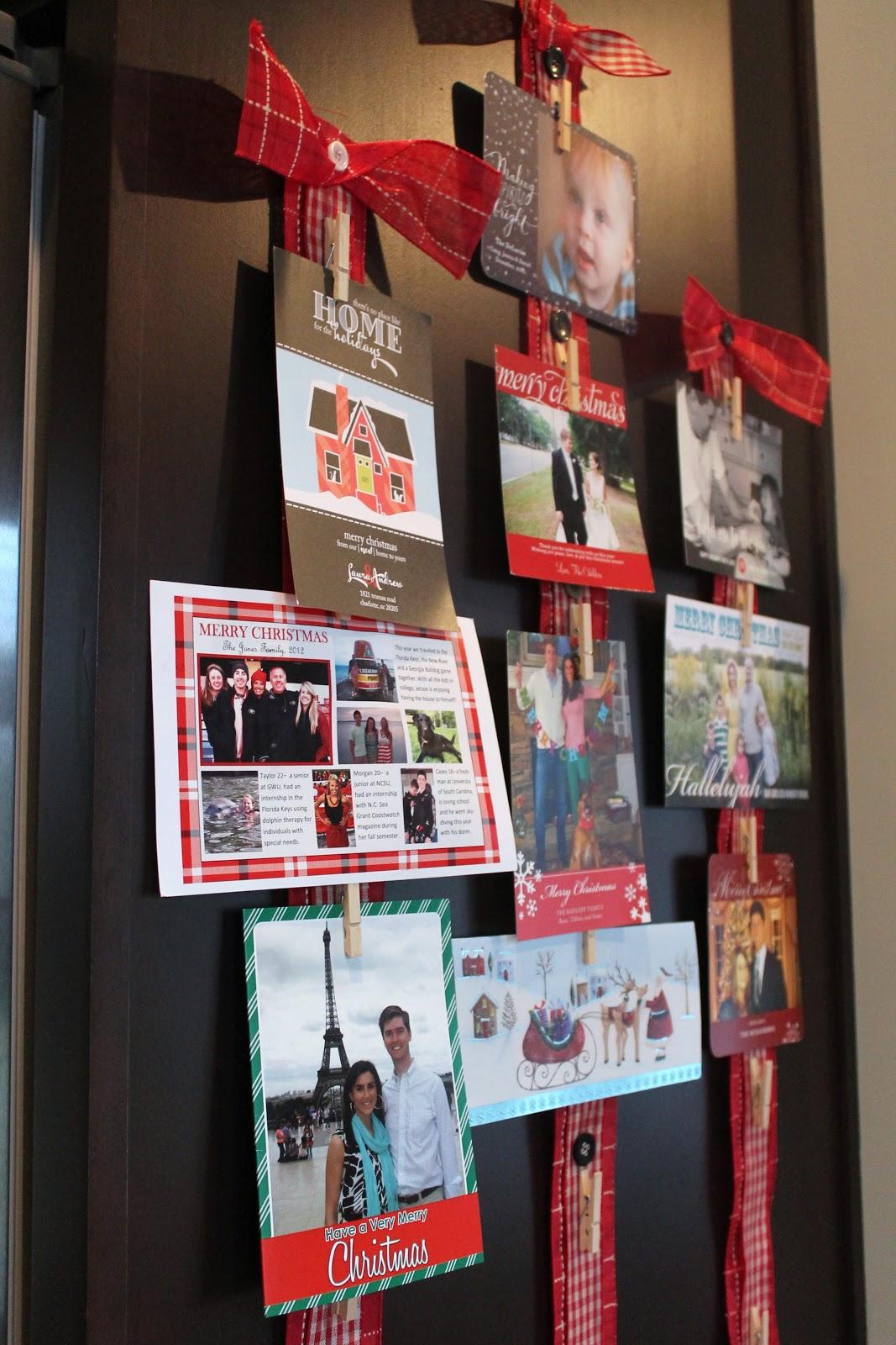 Christmas Card Display Carolina Charm