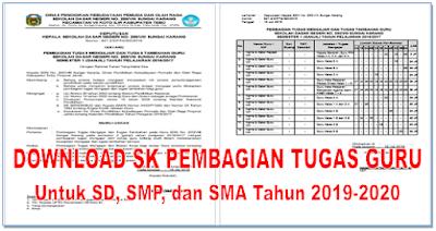 Download Sk Pembagian Tugas Guru Untuk Sd Smp Dan Sma
