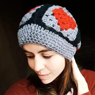 Gorro Granny Corazón a Crochet