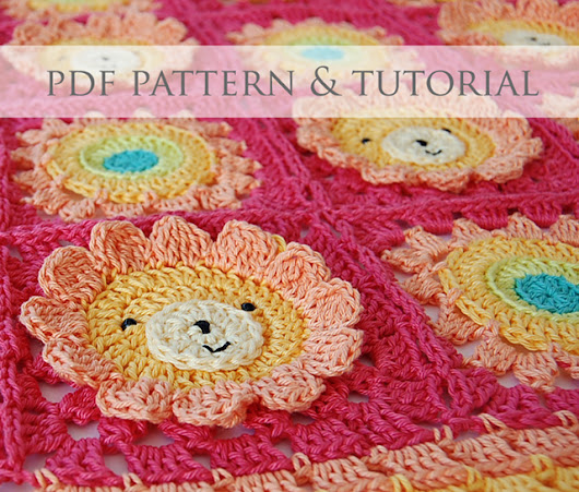 Little lion baby blanket pdf pattern & step-by-step tutorial