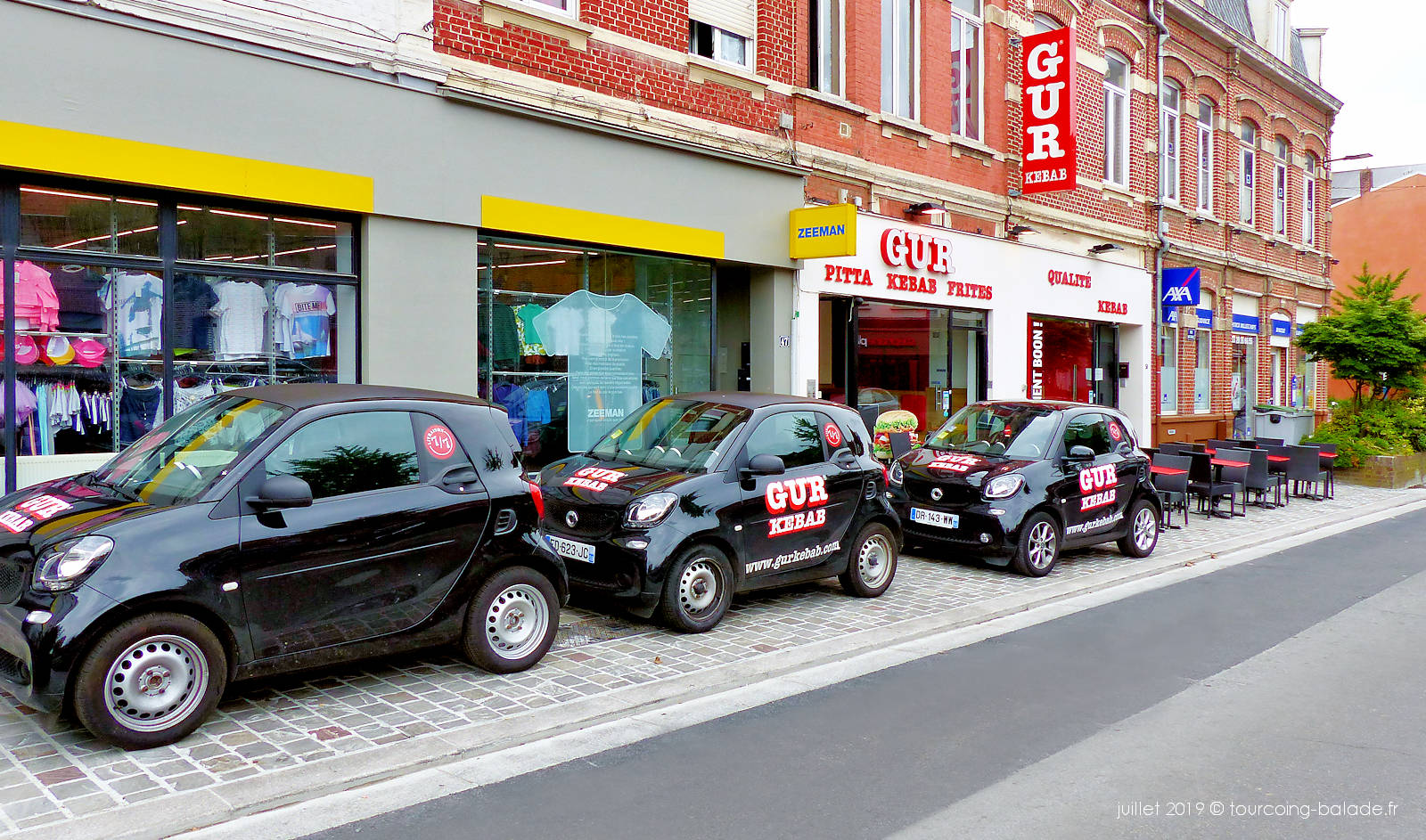 GUR Kebab Tourcoing - Flotte de voitures de livraison