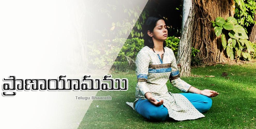 """స్త్రీ ఆరోగ్య ప్రదాయిని """"ప్రాణాయామము"""" - Pranayamam, Mahilalu"""