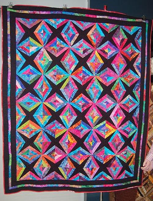Crazy Little Strings – Diamond Charms Quilt Block - Tutorial