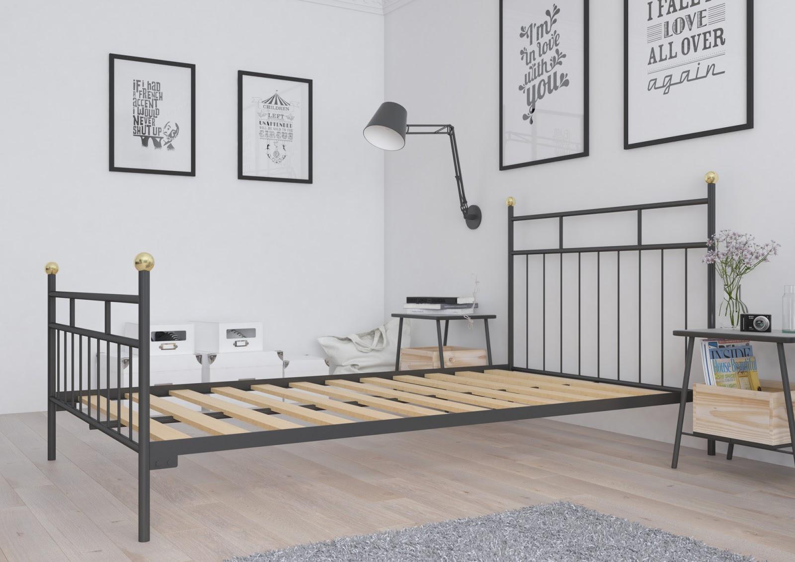 Łóżko metalowe wzór 27