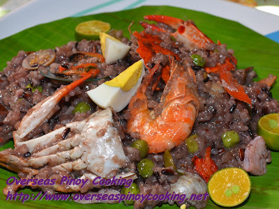 Purple Seafood Bringhe, Pinoy Arroz Valenciana Style