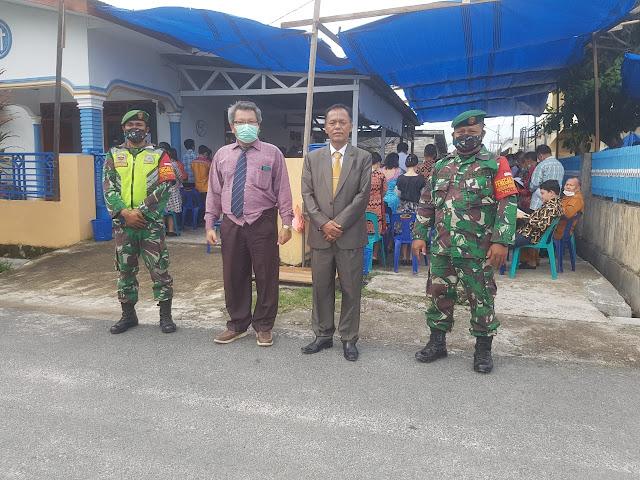 Kodim 0207/Simalungun Melalui Koramil 16/Pane Tongah Bersama Polsek Lakukan Patroli ke Gereja Gereja wilayah Binaan