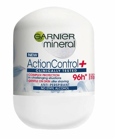 Deodorant antiperspirant roll-on pentru femei Garnier Mineral Action Control Clinically Tested, 50 ml